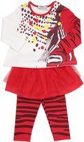 Junior Gaultier Viscose Jersey T-Shirt & Leggings