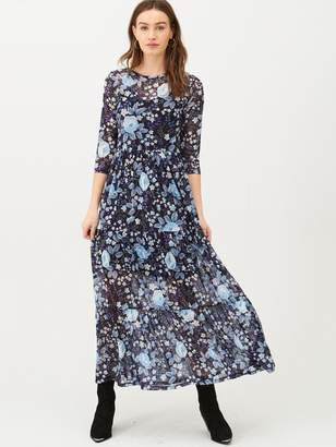 Very Mesh Floral Midi Dress - Blue Floral