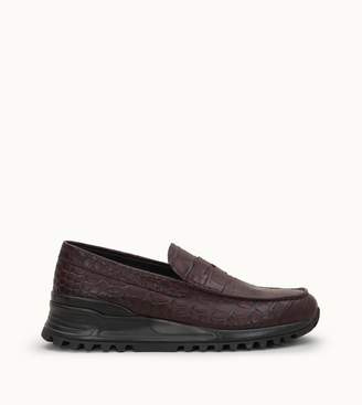 Tod's Tods Loafers in Crocodile-Printed Leather