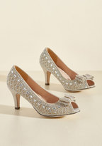 All That Dazzle Peep Toe Heel in Champagne in 9