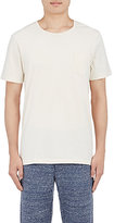 Solid & Striped MEN'S PATCH-POCKET T-SHIRT-IVORY SIZE S