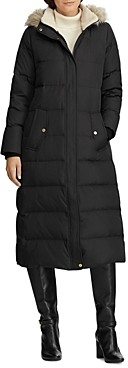 Ralph Lauren Ralph Faux Fur Trim Maxi Puffer Coat