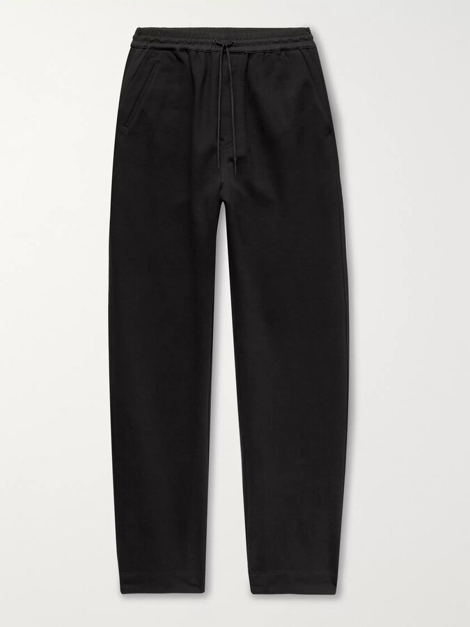 Y-3 Y 3 Wide-Leg Loopback Cotton-Jersey Sweatpants