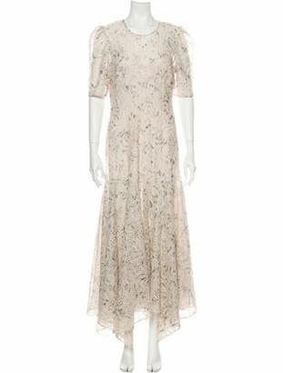 Veronica Beard Floral Print Long Dress