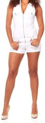 Vip Jeans Juniors' Plus Size Sexy Slim Fit Stretch Denim Romper