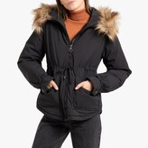 La Redoute Collections Short Zipped Lightly Padded Parka with Faux Fur Hood and Pockets