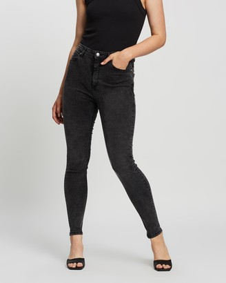 Mng Women's Grey High-Waisted - Noa Jeans - Size 32 at The Iconic