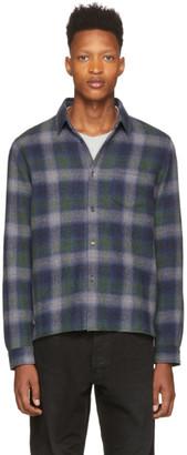 John Elliott Navy Sly Straight Hem Shirt