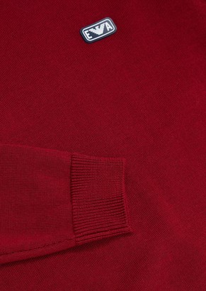 Emporio Armani Virgin Wool Blend Sweater With Ea Patch