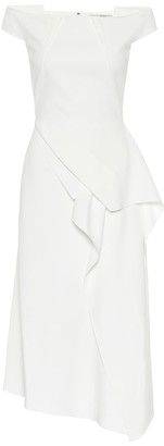 Roland Mouret Arch off-the-shoulder midi dress