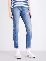 Levi's 501 distressed skinny high-rise jeans