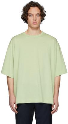 Dries Van Noten Green Half-Sleeve T-Shirt