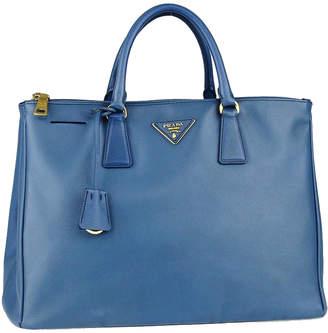 Prada Double Zip Lux Tote Saffiano Large Cobalto Blue