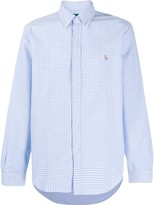 Polo Ralph Lauren gingham check logo embroidered shirt