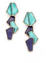 Oscar de la Renta Modern Petal Clip-On Drop Earrings