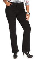 Style&Co. Style & Co. Plus Size Tummy Control Bootcut Jeans, Noir Wash
