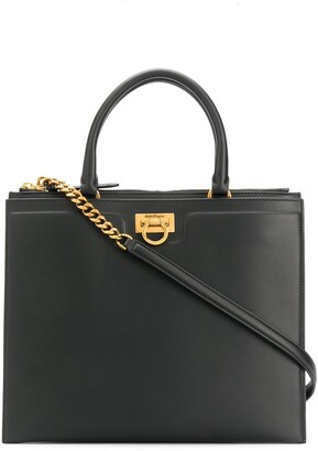 Salvatore Ferragamo Structured Tote Bag