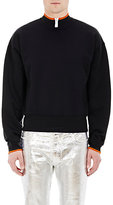 Maison Margiela Men's Zip-Detailed Sweatshirt-BLACK
