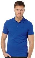 Armani Jeans Mens Solid Colour Cotton Pique Polo Light Blue