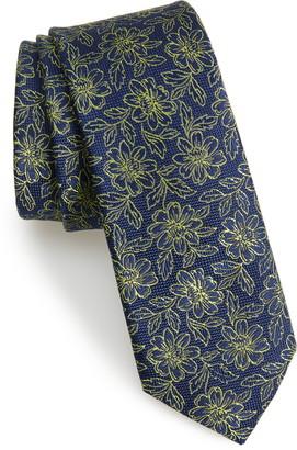 Ted Baker Floral Silk Skinny Tie