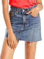 Levi's Distressed Denim A-Line Skirt
