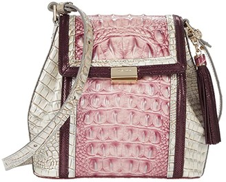 Brahmin Monte Carlo Margo Crossbody (Tea Rose) Handbags