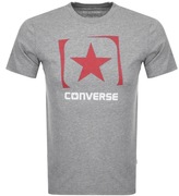 Converse Box Star Logo T Shirt Grey