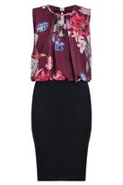 Quiz Wine Bubble Top Midi Dress