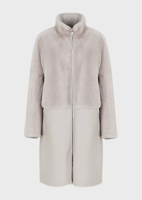 Emporio Armani Reversible Lambskin Nappa Leather Coat