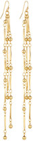 Fragments for Neiman Marcus Triple-Strand Beaded Drop Earrings, Gold