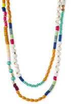 Women's Beaded Long Necklace - Multicolor