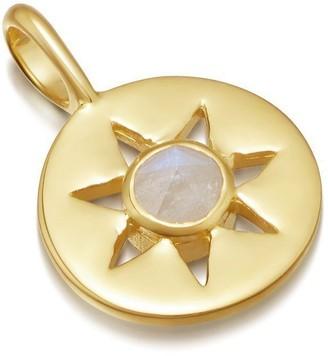 Missoma Rainbow Moonstone Gold June Birthstone Pendant
