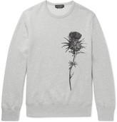 Alexander McQueen Thistle-print Loopback Cotton-jersey Sweatshirt - Gray