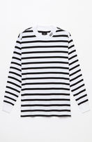 Obey Holten Striped Long Sleeve Mock Neck T-Shirt