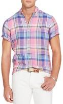 Polo Ralph Lauren Plaid Linen Classic Fit Button Down Sport Shirt