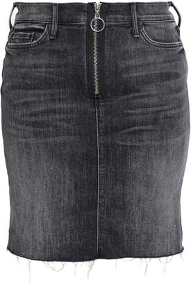 Mother Faded Denim Mini Skirt