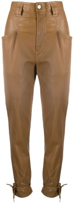 Isabel Marant Badeloisa slim-fit leather trousers