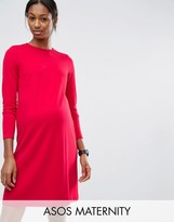 Asos Shift Dress In Ponte with 3/4 sleeve