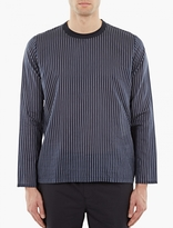 Our Legacy Striped Long-sleeve Silk T-shirt