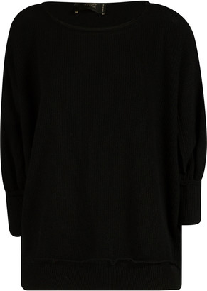 Maison Flaneur Round Neck Ribbed Pullover