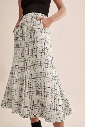 Country Road Tweed Midi Skirt