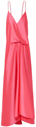 Cédric Charlier Draped Satin Dress