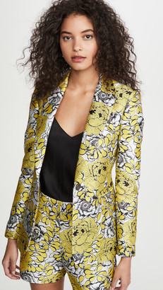 Alice + Olivia Macey Notch Collar Fitted Blazer