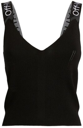 Off-White Knitted Tank Top