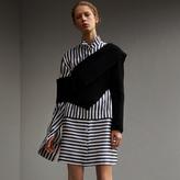 Burberry Striped Silk Cotton Shirt Dress