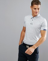 Oakley Golf Gravity Polo Tailored Slim Fit In Blue Marl