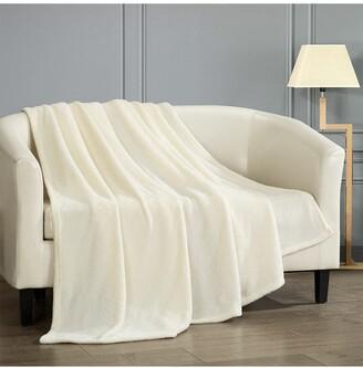Chic Home Bedding Kaeden Fleece Throw - Beige