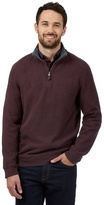 Maine New England Big And Tall Red Ribbed Sweater