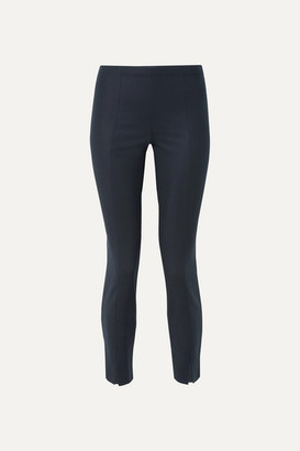 The Row Sorocco Cotton-blend Skinny Pants - Navy