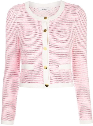 Milly tweed knit cropped jacket